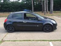 2007 RENAULT CLIO DYNAMIQUE S 1.4 BLACK LOW MILES DRIVES GOOD BLACK WHEELS AUX BARGAIN SPARES