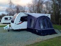 INFLATABLE CARAVAN AWNING + carpet: Vango Air Awning Rapide 250, pitch in 12 minutes, matching mat