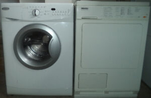 """24"""" WHIRLPOOL WASHER AND 24"""" MIELE DRYER FOR SALE!"""