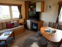 Holiday caravan in Eyemouth, 36 feet x 12 feet, 2 bedrooms, sleeps 6 persons