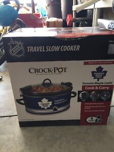 Brand new maple leafs crockpot