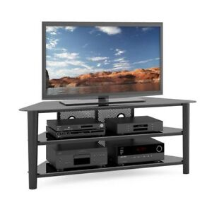 "Corliving Black Wood TV Stand for TVs up 70"". Brand new in Box"