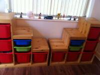 Wooden IKEA Trojfast storage units (x2) £90.