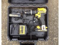 DEWALT XR 18v DRILL WITH BATTERIES CHARGER