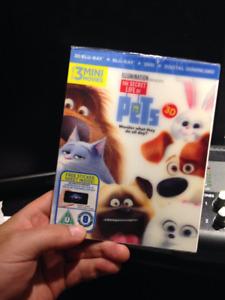 The Secret Life of pets 3D Blu Ray, 2D Blu Ray.......