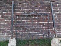 Iron Pedestrian Garden Gate and Posts