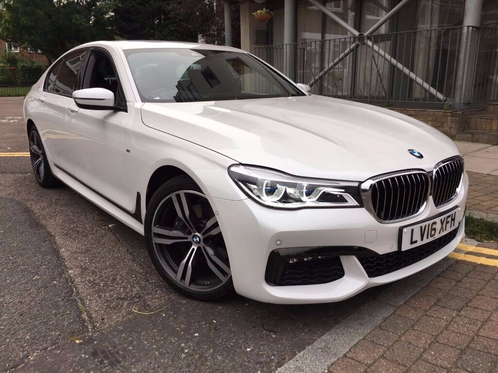 BMW 7 SERIES 30 730D M SPORT SALOON 2016 NEW SHAPE WHITE 5 YEAR SERVICE