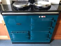Aga 2 oven, racing green, gas fired, modern. Excellent condition.