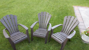 Grand fauteuil Adirondack résine - Resin Adirondack Patio Chair