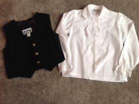 Black waistcoat and blouse