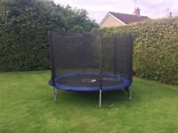 Kango 10 foot trampoline £80 as new with safety net