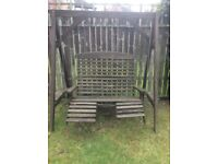 Free Wooden swinging chair