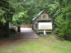 RV Lot with RV, Snowshed and Huge Deck - H35