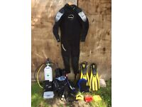 Full set of Scuba diving equipment - all recently certified.