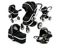 Isafe 3in1 pram with car seat