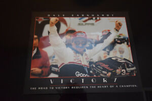 """Dale Earnhardt """"Victory"""" block mounted poster"""