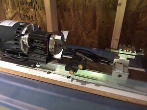 Lee Valley micro lathe with new motor