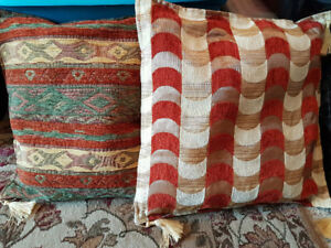 3 pillows with removable covers- excellent condition