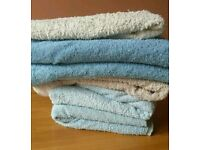 Seven used towels needing a new home!