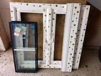 Brand new white woodgrain upvc window