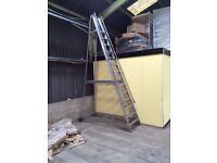 14-tread Aluminium Warehouse Ladders