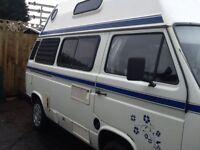 Volkswagen T25 campervan high top , White , 4 berth