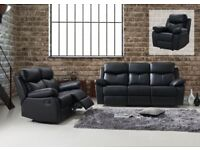 Valentino Leather Recliner Sofas : 3 Seat >2 Seat> + Arm Chair