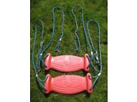 TP Moulded Plastic Swing Seats With Rot Resistant Ropes X 2