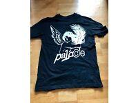 NEW Palace LARGE, Black Angel Logo T shirt with Writing