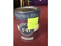 5l TIN OF FARROW & BALL MODERN EMULSION SUDBURY YELLOW