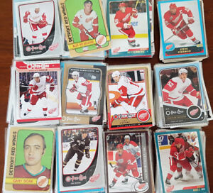 250+ Detroit Red Wings Hockey Cards