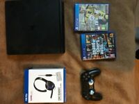 Ps4 slim 500gb with gta5 and fifa 17