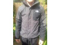 Mens Medium North Face Hyvent Jacket PLUS Fleece (worn twice only)