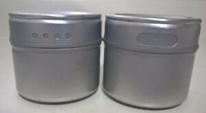Hometrends Magnetic Storage Tins/Spice Racks, Set of 2
