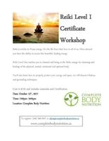 Reiki Level One Certificate Training