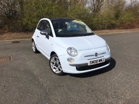 2008 FIAT 500 LOUNGE 1.4 BLUE PETROL GREAT RUN AROUND MUST SEE MOT ONE YEAR £4495 OLDMELDRUM