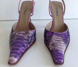 Lezilla, one-of-a-kind Real snakeskin made in Italy size 35