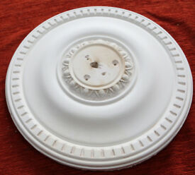 Plaster Ceiling Rose Egg and Dart Traditional Design 15""