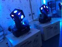 DJ lights - 2 x Kam Cube 360 1 month old