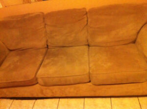 3 seat beige couch