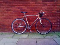 "Cool BSA custom vintage single speed bike. Flip Flop. 23""."