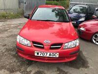 Nissan ALMERA RED £225 MOT NO