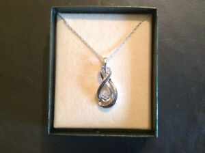 Diamond Accent in Sterling Silver Necklace