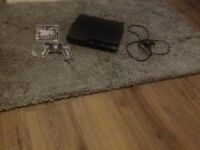 black, slimline PS3 120gb comes with all Leeds 1 pad and gta 5