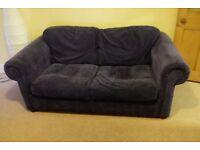Dark Blue 2 Seater Sofa Bed