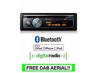 Pioneer DEH-X8700DAB radio, CD MP3 USB AUX Bluetooth stereo