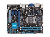 1ASUS,P8B75-M-LX MOTHERBOARD,INTEL,LGA1155, DDR3,PCIE,SATA6GB,USB3,HDMI,5.1,I3,I5,I7, 5.1,PLUS FREE.