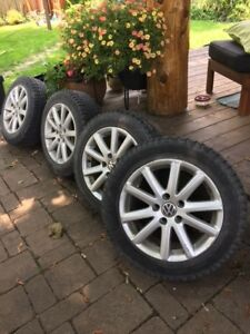 VW rims with 4 winter tires