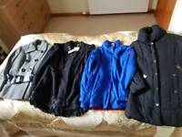 Bundle of jackets and coats
