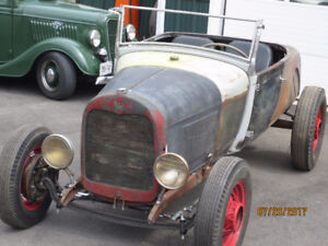 1929 Ford Roadster old skool hot rod project  A-V8